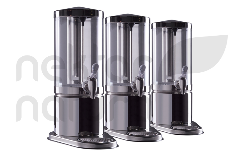 glass dispensers with mixers
